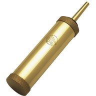 CVA FIELD CYL.FLASK 2.5oz w/20gr SPOUT BRASS 6/CS