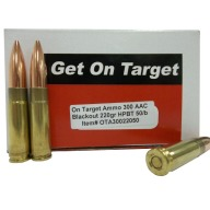 ON TARGET AMMO 300 BLACK OUT 220gr HPBT 50/b 10/c