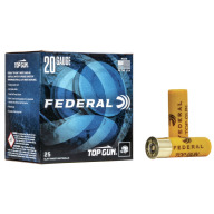 FEDERAL TOP GUN 20ga 2.5 DRAM 7/8oz 1210fps #8 250/cs
