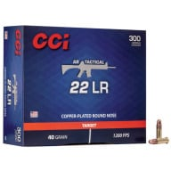 CCI AMMO 22LR 40gr CPRN TACTICAL 300/bx 10/cs