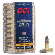 CCI AMMO 22LR 45gr LHP SUPPRESSOR 50/bx 100/cs