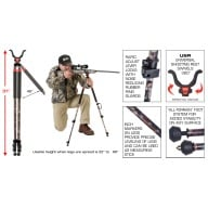 BOG BIPOD CLD-2 CAMO LEGGED DEVIL, TALL