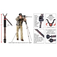 BOG TRIPOD CLD-3 CAMO LEGGED DEVIL, TALL