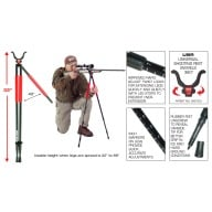 BOG BIPOD RLD-2 RED LEGGED DEVIL, TALL