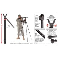 BOG TRIPOD TAC-3 TACTICAL DEVIL, TALL