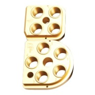 DILLON TOOLHEAD XL650/750 GOLD ANODIZED ALUMINUM