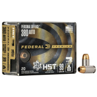 FEDERAL AMMO 380 ACP 99gr HST JHP PD 20/bx 10/cs