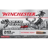 WINCHESTER AMMO 243 WINCHESTER DEER- SEASON 95gr EP 20/b 10/c