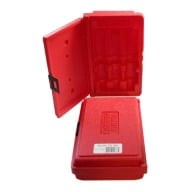 FORSTER DIE STORAGE BOX FOR 3-DIE SET (RED)
