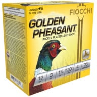 "FIOCCHI AMMO 12ga 3"" GP-NICKEL 1200fps 1.75oz #4 25b 10c"