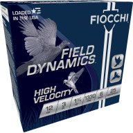 "FIOCCHI AMMO 12ga 3"" HIGH-VEL 1330fps 1.75oz #6 25b 10c"