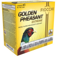 "FIOCCHI AMMO 12ga 2.75"" NICKEL 1485fps 1-3/8 #4 25b 10c"