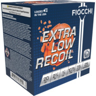 FIOCCHI AMMO 20ga LITEd 3/4oz 1075fps #7.5 250/cs