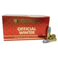 FIOCCHI AMMO 22LR WINTER MATCH 40gr RN 1070fps 50b 100c