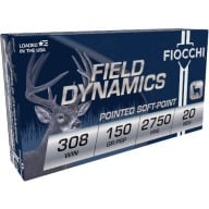 FIOCCHI AMMO 308 WINCHESTER 150gr PSP 20/bx 10/cs