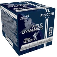 "FIOCCHI AMMO 410ga 3"" HIGH-VEL 1140fps 11/16oz #6 25/bx"