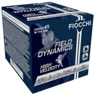 "FIOCCHI AMMO 410ga 3"" HIGH-VEL 1140fps 11/16oz #8 25/bx"
