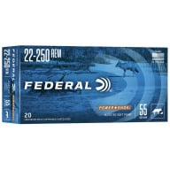 FEDERAL AMMO 22-250 REMINGTON 55gr SP (P/S) 20/bx 10/cs