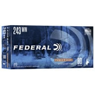 FEDERAL AMMO 243 WINCHESTER 80gr SP (P/S) 20/bx 10/cs