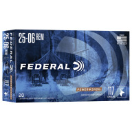 FEDERAL AMMO 25-06 REMINGTON 117gr SP (P/S) 20/bx 10/cs