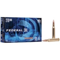 FEDERAL AMMO 270 WINCHESTER 130gr SP (P/S) 20/bx 10/cs