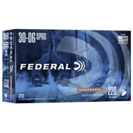 FEDERAL AMMO 30-06 SPR. 220gr SP-RN (P/S) 20/bx 10/cs