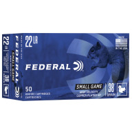FEDERAL AMMO 22LR Hi-Vel 38gr HP COPPER 50/bx 100/cs