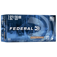 FEDERAL AMMO 7.62x39 123gr SP (P/S) 20/bx 10/cs