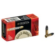 FEDERAL AMMO 22LR MATCH 40gr SOLID 1080fps 50/b 100/c