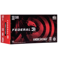 FEDERAL AMMO 30 CARBINE 110gr FMJ AM.-EAGLE 50/bx 10/cs