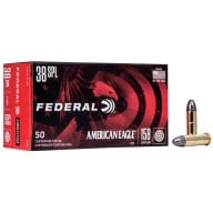 FEDERAL AMMO 38 SPL 158gr LD- RN AM.-EAGLE 50/bx 20/cs