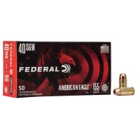 FEDERAL AMMO 40 S&W 155gr FMJ AM.-EAGLE 50/bx 20/cs