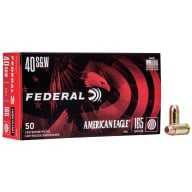 FEDERAL AMMO 40 S&W 165gr FMJ AM.-EAGLE 50/bx 20/cs