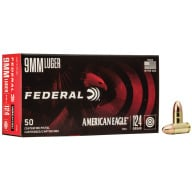 FEDERAL AMMO 9MM 124gr FMJ AM.-EAGLE 50/bx 20/cs