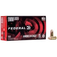 FEDERAL AMMO 9MM 115gr FMJ AM.-EAGLE 50/bx 20/cs