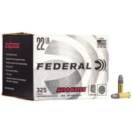 FEDERAL AMMO 22LR AUTO-MATCH 40g SOLID *LIMIT 4* 325/b