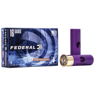 "FEDERAL SLUG 16ga 2.75"" MAXd 4/5oz HP-RIFLED 5/b 50/c"