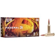 FEDERAL AMMO 243 WINCHESTER 95gr FUSION-BT MOLY 20/bx 10/c