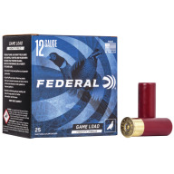 "FEDERAL AMMO 12ga 2.75"" 3.25d 1.25oz #7.5 25/bx 10/cs"