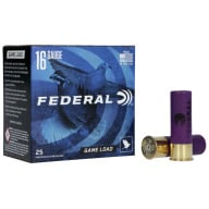 "FEDERAL AMMO 16ga 2.75"" 2.5d 1oz #6 25/bx 10/cs"