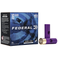 "FEDERAL AMMO 16ga 2.75"" 3.25d 1-1/8oz #4 25/bx 10/cs"
