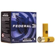 "FEDERAL AMMO 20ga 2.75"" 2.5d 1oz #6 25/bx 10/cs"