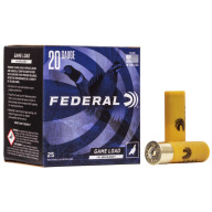 "FEDERAL AMMO 20ga 2.75"" 2.75d 1oz #6 25/bx 10/cs"