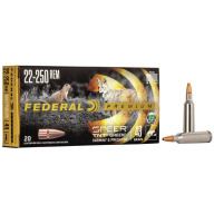 FEDERAL AMMO 22-250 REMINGTON 43gr TNT-GREEN (V/S) 20/b 10/c