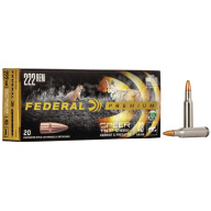 FEDERAL AMMO 222 REMINGTON 43gr TNT GREEN LEAD-FREE 20/b 10/c