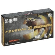 FEDERAL AMMO 30-06 SPR. 165gr NOSLER-PART.(V/S) 20/b 10/c