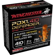 "WINCHESTER AMMO 410ga 2.5"" ELITE PDX1 SELF DEFENSE 10b 10c"