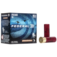 "FEDERAL AMMO 12ga 3"" STEEL 1550fps 1-1/8 #4 25b 10c"