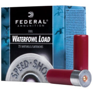 "FEDERAL AMMO 12ga 2.75"" STEEL 1375fps 1-1/8 #6 25b 10c"