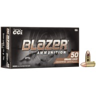 CCI AMMO 9MM 115gr FMJ BLAZER BRASS 50/bx 20/cs